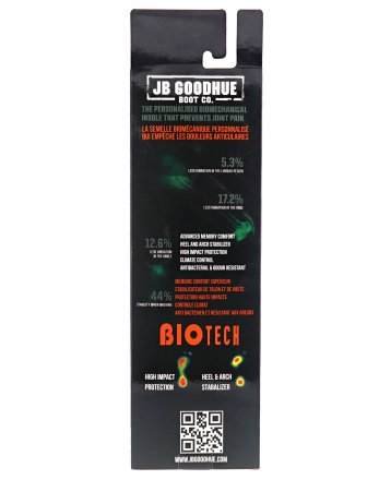JB Goodhue, Insoles, Biotech, Insoles, 40010, Box back